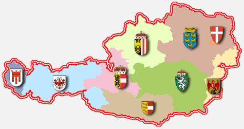 österreich karte bundesländer Umweltinformation in den Bundesländern   Umweltinformation  österreich karte bundesländer